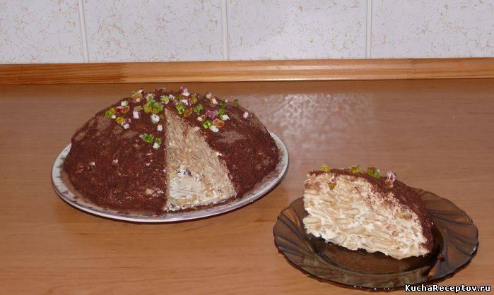 Торт из печенья рыбки со сметаной и сгущенкой рецепт с фото пошагово