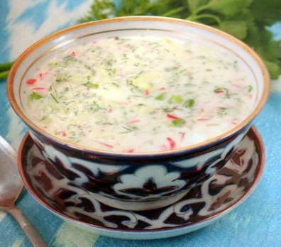 Узбекский суп чалоп