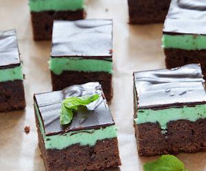 Шоколадно-мятные брауни, Сладкая выпечка