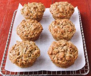 Овсяно-творожные кексы с яблоком, Сладкая выпечка