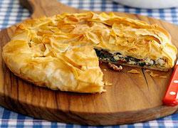 Пирог со щавелем и козьим сыром, Несладкая выпечка