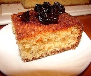 Пирог из кускуса со сметаной и финиковым сиропом, Сладкая выпечка