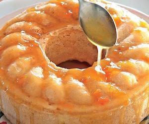 Пудинг из хурмы с абрикосовой глазурью, Сладкая выпечка
