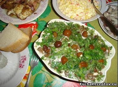 салат сосновый бор