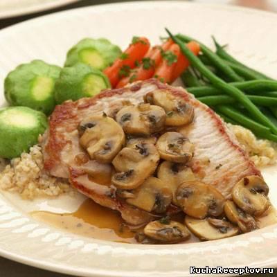 мясо запеченное с грибами