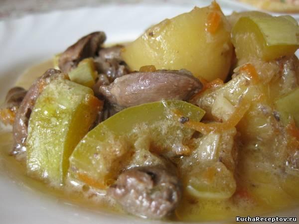 рагу из овощей с сердечками