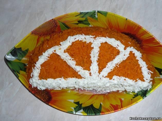 "салат "" долька апельсина """