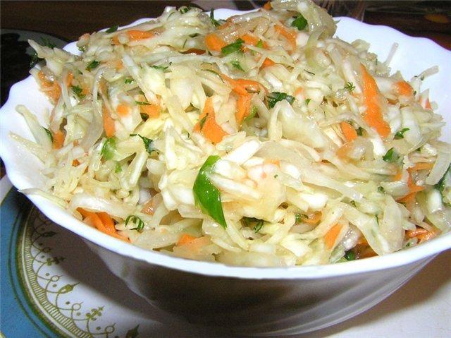 салат из капусты свежей белокочанной капусты
